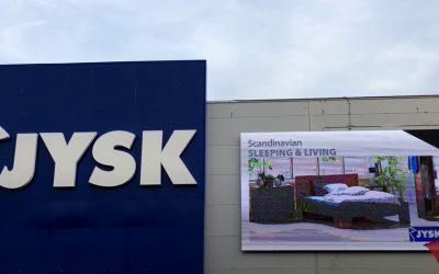 JYSK ledfal Budaörs