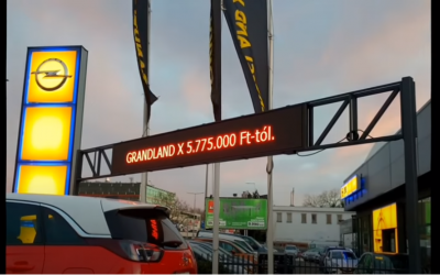 Autókereskedés led futófény
